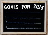 stock photo of orientation  - goals for 2015 on blackboard  - JPG