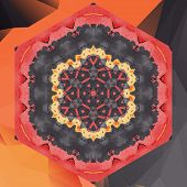Mandala chakra flower vector design in red color