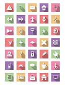 Flat icon set, vector collection