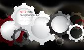 eps10 vector modern frame gear elements technology background