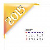 2015 January calendar