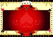 Poker game ace of spades horizontal background. A  background for your Poker Tournament with a heart shape. Write your message on the empty frame. Dimensions are ideal for a screen