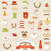 image of christmas hat  - Christmas Retro Party set  - JPG