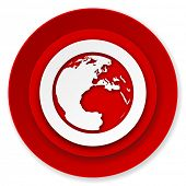 earth icon, world sign