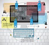 Infographics elements, vector