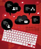 Cloud infographics, vector