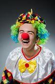 Funny clown in humor concept