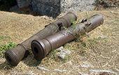 Cannon Barrels Castle in Greece