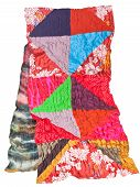 Handmade Patchwork And Batik Scarf Isolated