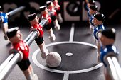 pic of indoor games  - foosball table soccer little men playing game - JPG