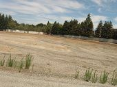 stock photo of drought  - this is an empty percolation pond due to the Cali drought - JPG