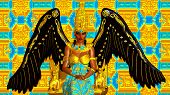 image of spread wings  - The Angel of Egypt - JPG