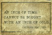 picture of proverb  - An inch of time cannot be bought  - JPG