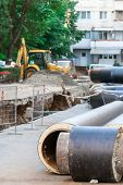 foto of underground water  - underground water pipeline replacement  - JPG