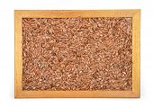 image of laxatives  - Colorful and crisp image of flax seed in frame