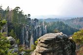 image of bohemian  - Sandstone rocks in National park Bohemian Paradise Czech republic - JPG