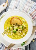 picture of brussels sprouts  - Thick vegetable soup puree with Brussels sprouts - JPG