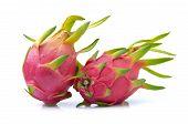 pic of dragon fruit  - dragon fruit on a white background  - JPG