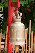 Постер, плакат: Buddhist bell in Wat Phan Tao Chiang Mai Thailand