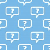 pic of blue things  - Question blue with white seamless pattern for web design - JPG