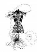 picture of dress mannequin  - dress mannequin - JPG