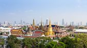 picture of emerald  - Aerial view of Grand Palace and Emerald Buddha Temple in Bangkok Thailand - JPG