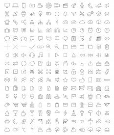 stock photo of modifier  - Full set of Icons for developpers - JPG