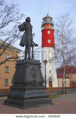 poster of Monument And Lighhouse On City Square