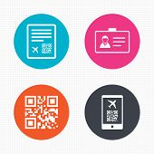 foto of qr codes  - Circle buttons - JPG