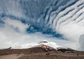 pic of plateau  - Cotopaxi volcano over the plateau Andean Highlands of Ecuador South America - JPG