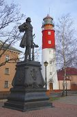 Monument And Lighhouse On City Square poster