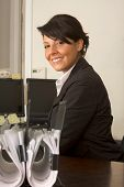 Friendly Executive Assistant Woman In Business Suit