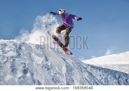 Stylish snowboarder with