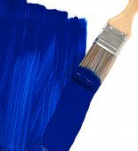 Blaue Farbe Pinsel