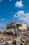 Erechtheion temple on acropolis, Athens, Greece