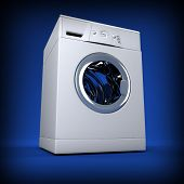 fine image 3d of classic washing machine background