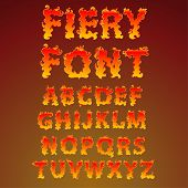 Fire alphabet - find more fonts in my portfolio