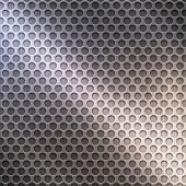 polished metal grid
