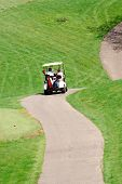 Golf Cart Winding Path