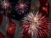 patriotische fireworks