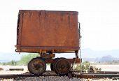 Antique Ore Mining Rail Car