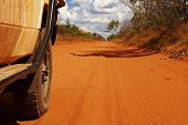 Offroad Car In The Australian Outback