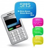 Modern mobile phone. Send and Receive SMS Messages.