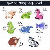 Постер, плакат: Cartoon Animals Alphabet