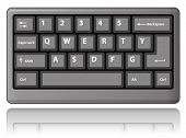 Grey keyboard. Vector illustration.
