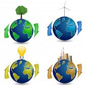 picture of nuclear family  - Globe with Tree - JPG