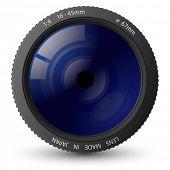 Ilustração em vetor de lente da câmera