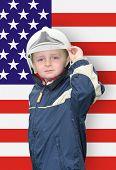 Young American Fireman
