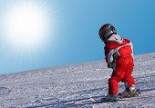 Pequeño esquiador