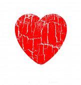 Vector ilustración corazón en rift